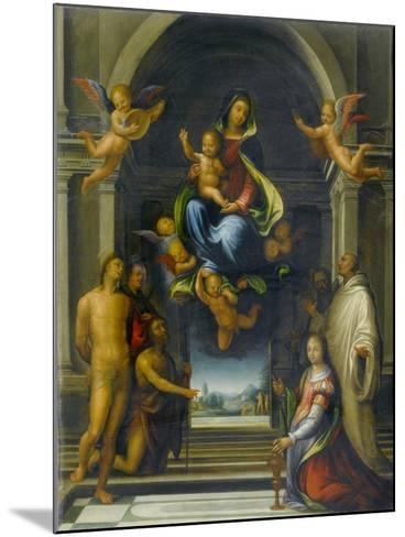 The Virgin and Child Surrounded by Saints, C.1570-1674-Fra Bartolommeo-Mounted Giclee Print