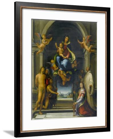 The Virgin and Child Surrounded by Saints, C.1570-1674-Fra Bartolommeo-Framed Art Print