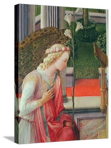 The Annunciation, Detail of the Angel Gabriel-Fra Filippo Lippi-Stretched Canvas Print