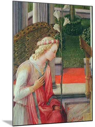 The Annunciation, Detail of the Angel Gabriel-Fra Filippo Lippi-Mounted Giclee Print