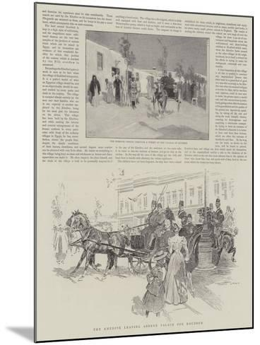 The Khedive Leaving Abdeen Palace for Koubbeh-Frank Craig-Mounted Giclee Print