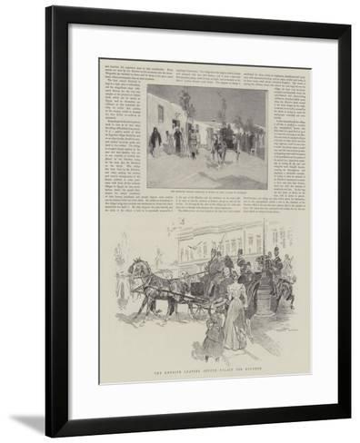 The Khedive Leaving Abdeen Palace for Koubbeh-Frank Craig-Framed Art Print