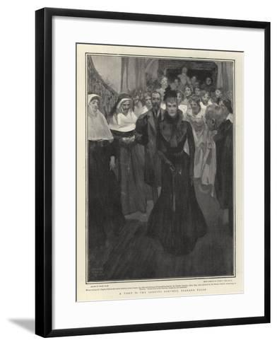 A Visit to the Loretto Convent, Niagara Falls-Frank Craig-Framed Art Print