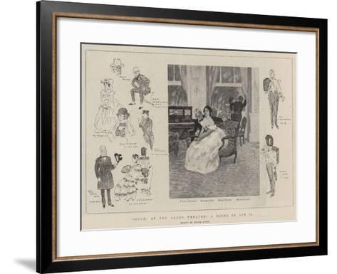 Ours at the Globe Theatre, a Scene in Act II-Frank Craig-Framed Art Print