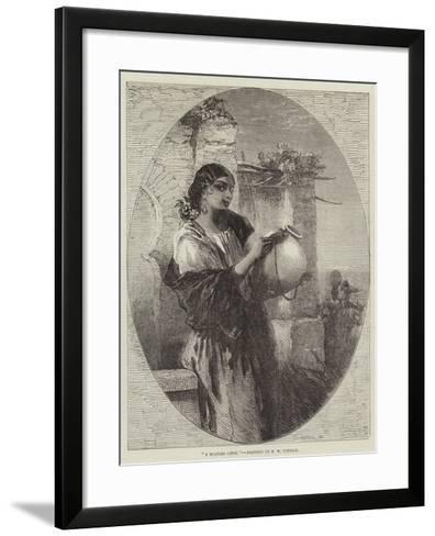 A Spanish Gipsy-Francis William Topham-Framed Art Print