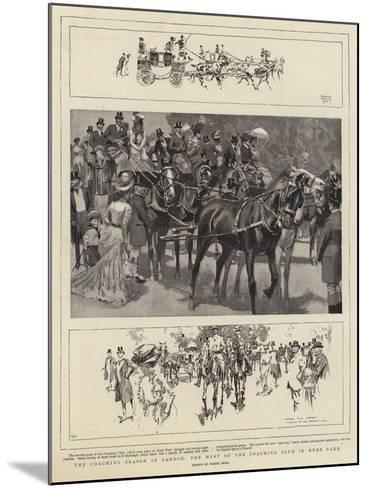 The Coaching Season in London, the Meet of the Coaching Club in Hyde Park-Frank Craig-Mounted Giclee Print