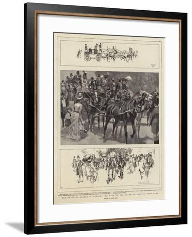 The Coaching Season in London, the Meet of the Coaching Club in Hyde Park-Frank Craig-Framed Art Print