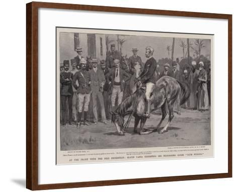 At the Front with the Nile Expedition, Slatin Pasha Exhibiting His Performing Horse Plum Pudding-Frank Dadd-Framed Art Print