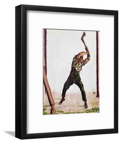 Woodcutter, 1910-Ferdinand Hodler-Framed Art Print