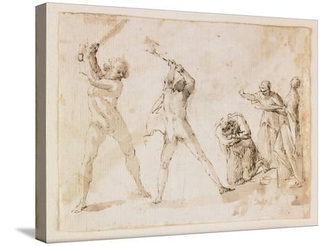 Martyrdom of Saint John the Baptist-Francesco Allegrini-Stretched Canvas Print