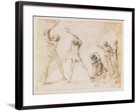 Martyrdom of Saint John the Baptist-Francesco Allegrini-Framed Art Print