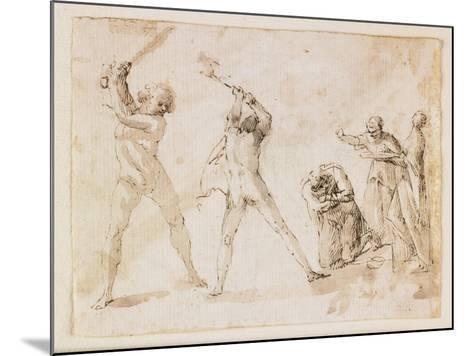Martyrdom of Saint John the Baptist-Francesco Allegrini-Mounted Giclee Print