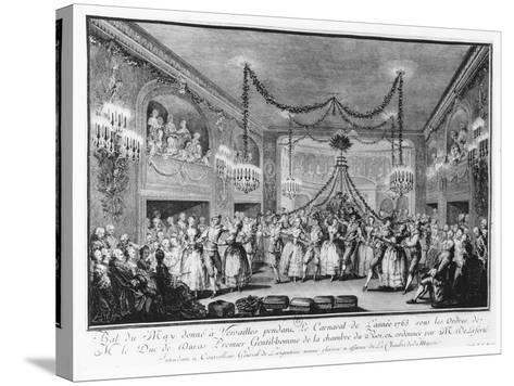 May Ball at Versailles During the Carnival of 1763-Francois Nicolas Martinet-Stretched Canvas Print