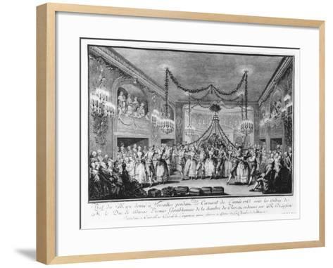 May Ball at Versailles During the Carnival of 1763-Francois Nicolas Martinet-Framed Art Print