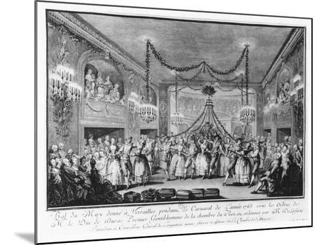 May Ball at Versailles During the Carnival of 1763-Francois Nicolas Martinet-Mounted Giclee Print