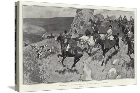 A Successful Day with the Devon and Somerset Staghounds on Exmoor-Frank Craig-Stretched Canvas Print