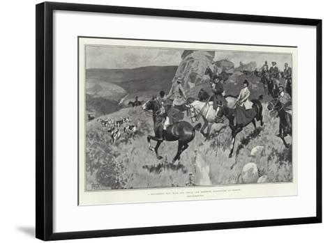A Successful Day with the Devon and Somerset Staghounds on Exmoor-Frank Craig-Framed Art Print