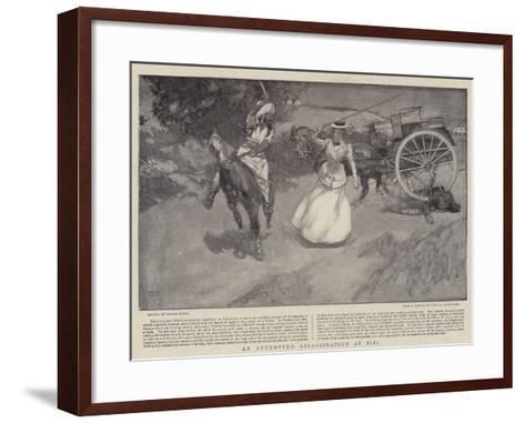 An Attempted Assassination at Sibi-Frank Craig-Framed Art Print