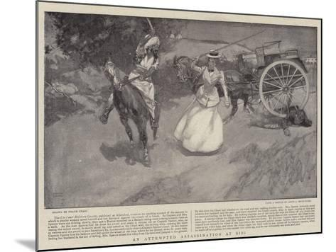 An Attempted Assassination at Sibi-Frank Craig-Mounted Giclee Print