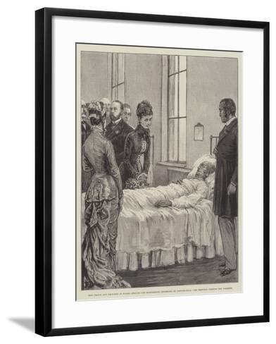 The Prince and Princess of Wales Opening the Marylebone Infirmary at Notting-Hill-Frank Dadd-Framed Art Print