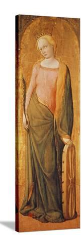 St. Catherine of Alexandria, 15th Century-Francesco de' Franceschi-Stretched Canvas Print