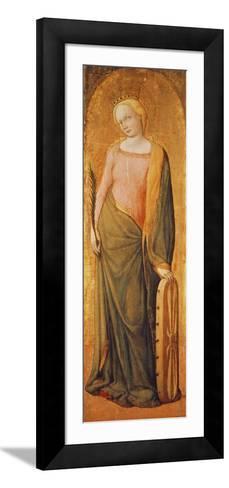 St. Catherine of Alexandria, 15th Century-Francesco de' Franceschi-Framed Art Print
