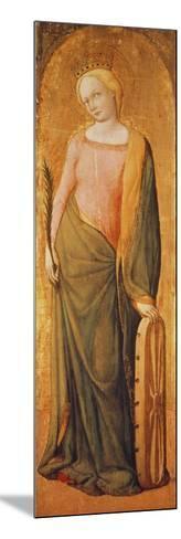 St. Catherine of Alexandria, 15th Century-Francesco de' Franceschi-Mounted Giclee Print