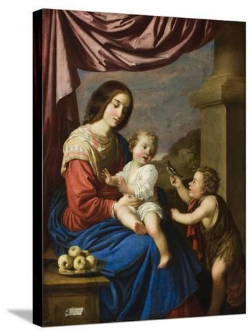 Madonna and Child with the Infant Saint John, 1658-Francisco de Zurbaran-Stretched Canvas Print