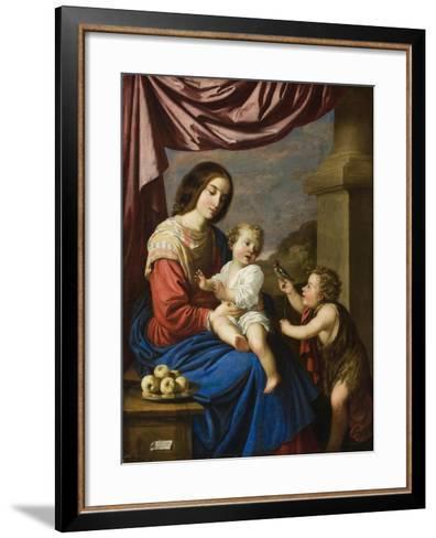 Madonna and Child with the Infant Saint John, 1658-Francisco de Zurbaran-Framed Art Print