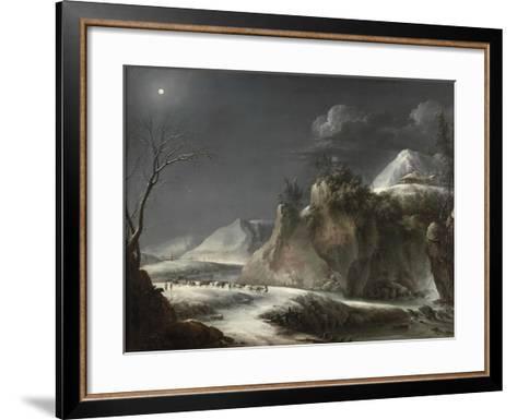 Winter Scene in the Italian Alps, C.1735-1765-Francesco Foschi-Framed Art Print