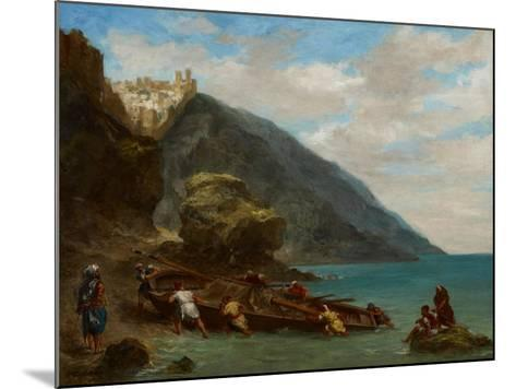 View of Tangier from the Seashore, 1856-8-Eugene Delacroix-Mounted Giclee Print