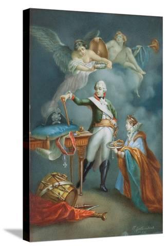 Major General Aleksandr Vassil'Evich Suvorov (1729-1800) in Uniform-Francesco Gallimberti-Stretched Canvas Print
