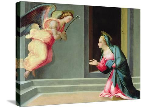 The Annunciation-Francesco Granacci-Stretched Canvas Print