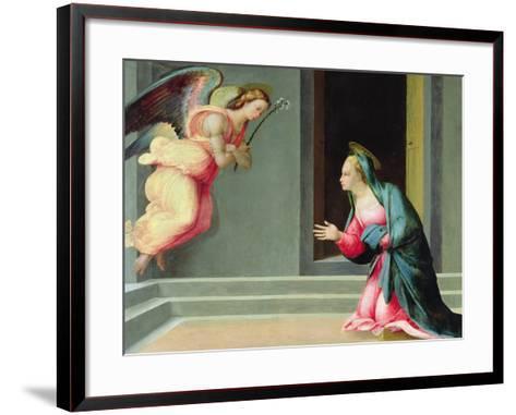 The Annunciation-Francesco Granacci-Framed Art Print