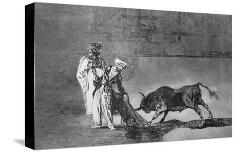 The Moors Make a Different Play in the Ring with their Burnous-Francisco de Goya-Stretched Canvas Print