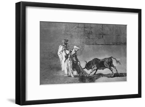 The Moors Make a Different Play in the Ring with their Burnous-Francisco de Goya-Framed Art Print