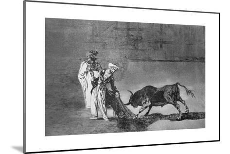 The Moors Make a Different Play in the Ring with their Burnous-Francisco de Goya-Mounted Giclee Print