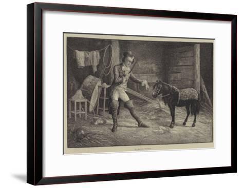 In Private Training-Frank Feller-Framed Art Print