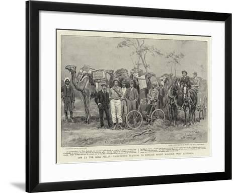 Off to the Gold Fields, Prospectors Starting to Explore Mount Malcolm, West Australia-Frank Dadd-Framed Art Print