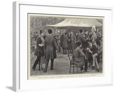 Great Britain in Persia, a Reception in the Garden of the British Legation at Teheran-Frank Dadd-Framed Art Print