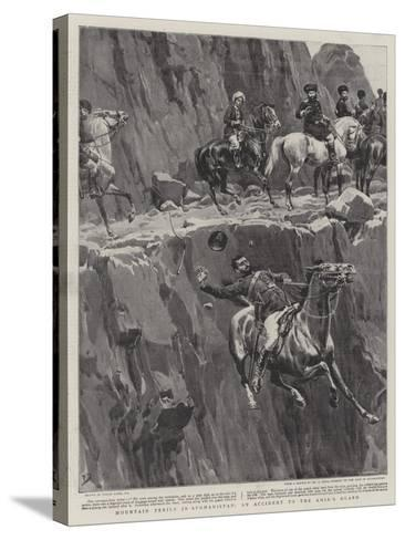 Mountain Perils in Afghanistan, an Accident to the Amir's Guard-Frank Dadd-Stretched Canvas Print
