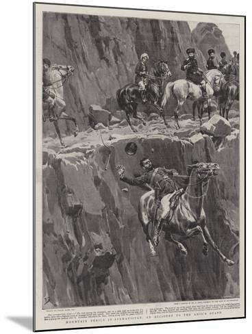 Mountain Perils in Afghanistan, an Accident to the Amir's Guard-Frank Dadd-Mounted Giclee Print