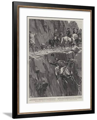 Mountain Perils in Afghanistan, an Accident to the Amir's Guard-Frank Dadd-Framed Art Print