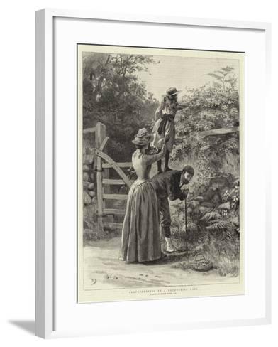 Blackberrying in a Devonshire Lane-Frank Dadd-Framed Art Print