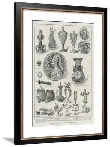 Specimens in the New Glass and Ceramic Gallery, British Museum-Frank Watkins-Framed Art Print