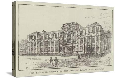New Technical Schools at the People's Palace, Mile End-Road-Frank Watkins-Stretched Canvas Print