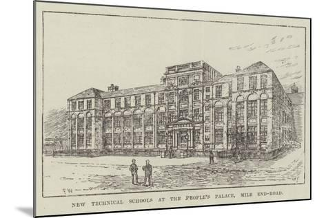 New Technical Schools at the People's Palace, Mile End-Road-Frank Watkins-Mounted Giclee Print