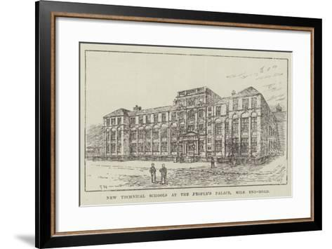 New Technical Schools at the People's Palace, Mile End-Road-Frank Watkins-Framed Art Print