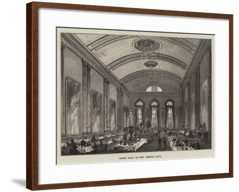 Great Hall of the Temple Club-Frank Watkins-Framed Art Print