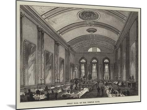 Great Hall of the Temple Club-Frank Watkins-Mounted Giclee Print